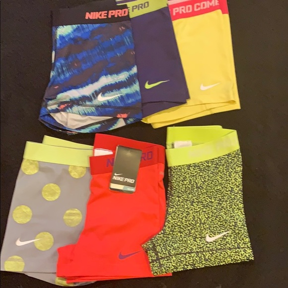 Nike Pants - Lot of 6 Nike compression shorts size small